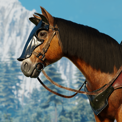 Thumbnail image for Roach - The Witcher 3 Horse (Update for Blender 2.82)