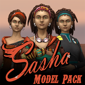 Thumbnail image for Tales from the Borderlands - Sasha Model Pack