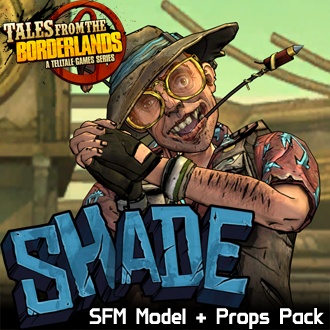Thumbnail image for Tales from the Borderlands: Shade (Model + Props Pack)