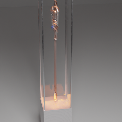 Thumbnail image for Tall glass display case