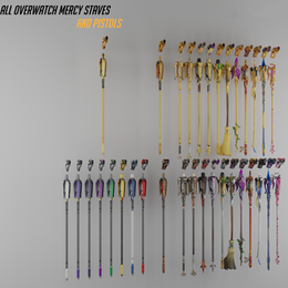 [Overwatch] Mercy's Staves and Pistols