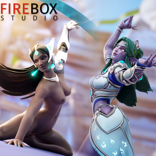 Thumbnail image for Overwatch Symmetra - Classic/Ice skater/Tyrande skins from Firebox Studio