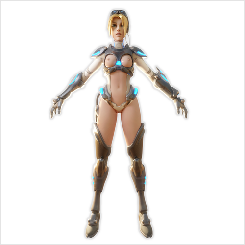 Thumbnail image for [Overwatch] Nude Nova Widowmaker, complete with rig (.blend).