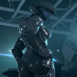 Creepy Chimera Lewd Female Tech Suit Halo
