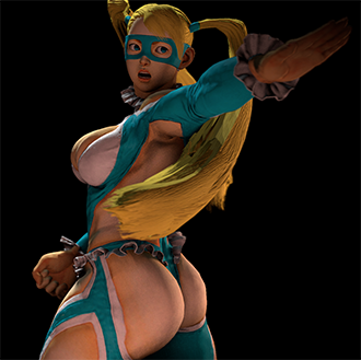 Thumbnail image for Rainbow Mika - Street Fighter V