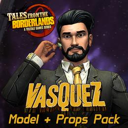 Tales from the Borderlands - Vasquez Model & Props Pack