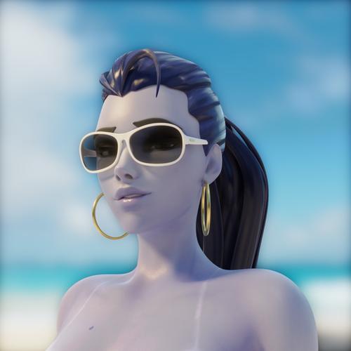 Thumbnail image for Beach Babe Widowmaker - Overwatch (Blender 2.8)