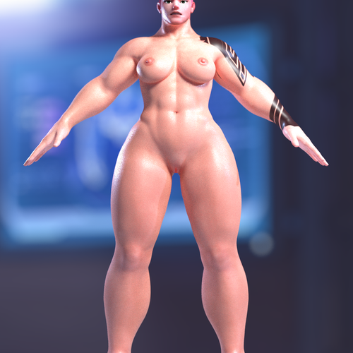 Thumbnail image for Nude Zarya Rigged (Pitchipoy) for Blender