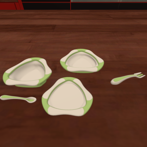 Thumbnail image for Baby plates,spoon,fork and cup
