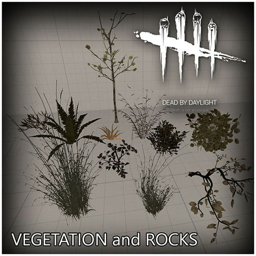 Thumbnail image for Vegetation and rocks props [Dead By Daylight]