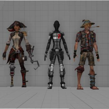 Thumbnail image for Captain Scarlett, Zer0 and Shade (WIP)