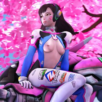 Thumbnail image for Overwatch - D.va - Semi-nude by Ellowas