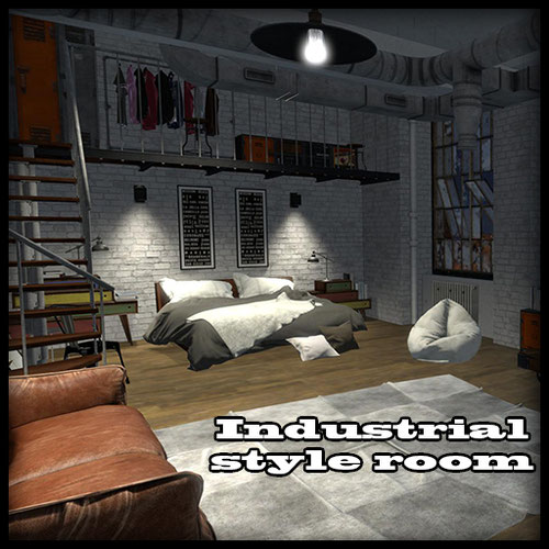 Thumbnail image for Industrial style room