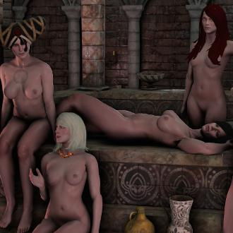 Thumbnail image for The Witcher 3:  Lodge of Sorceresses Nude