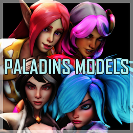 Paladins Models pack (Skye, Lian, Evie & Vivian)