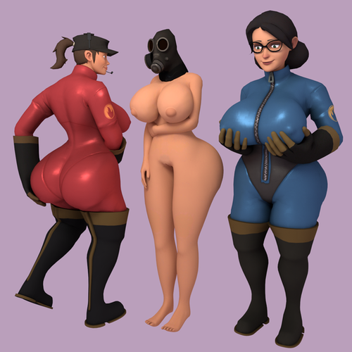 Thumbnail image for Femme Pyro Head Pack