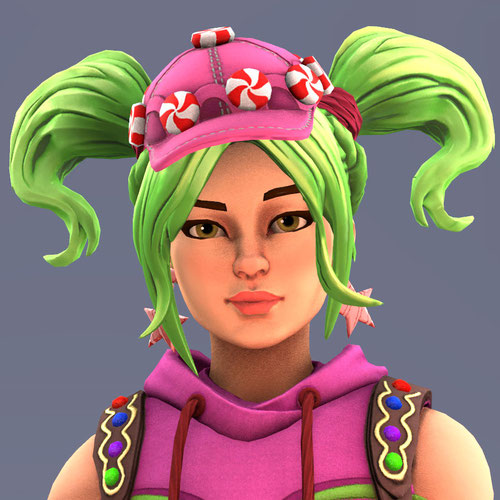 Thumbnail image for [Fortnite] Battle Royale: Zoey (Candy Girl)