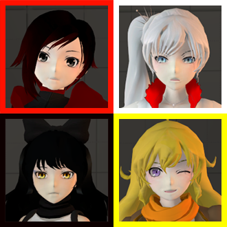 Thumbnail image for RWBY team - (Ruby, Weiss, Blake and Yang)