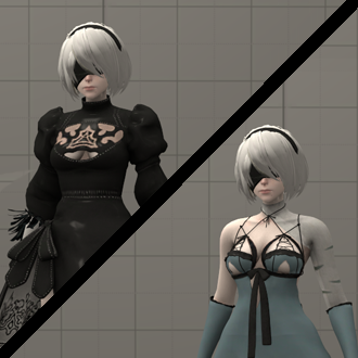 Thumbnail image for YoRHa 2B V2 (with Kainé's outfit and Vicious Contract sword) - Nier: Automata