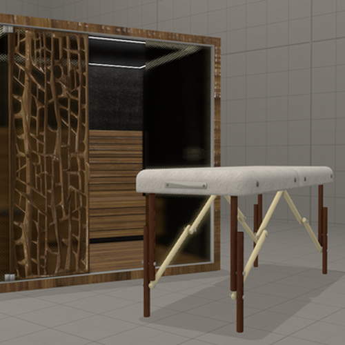 Thumbnail image for Sauna Room/Massage Table