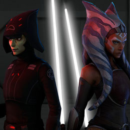 Star Wars Force Arena Ahsoka Tano and Seventh Sister Models