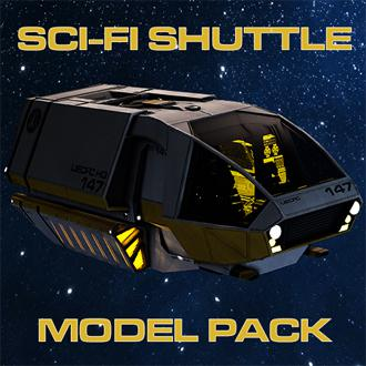 Thumbnail image for Sc-Fi Shuttle Modelpack