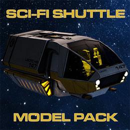 Sc-Fi Shuttle Modelpack
