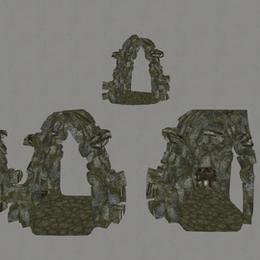 Skyrim Dungeon Hallway Props