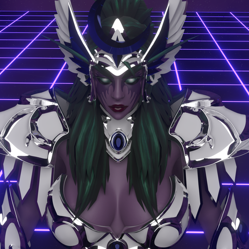 Thumbnail image for [blender 2.8] Tyrande Whisperwind (hots) v1.0