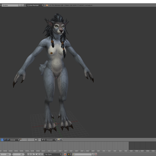 Thumbnail image for Worgen Female source files