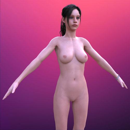 Thumbnail image for Resident Evil 2 | Claire [Nude, Blender]