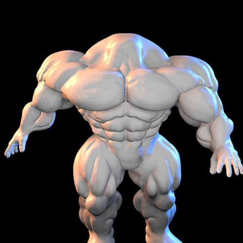 Thumbnail image for A colorable headless muscle body