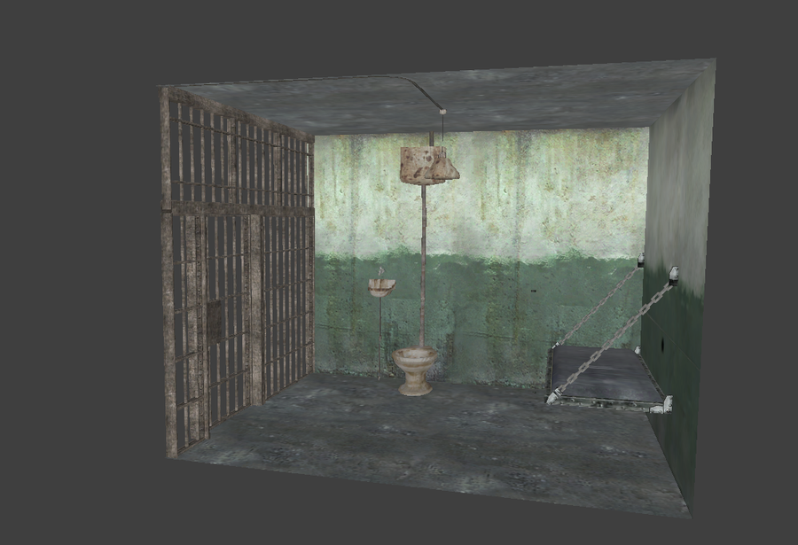 Single Jail Cell Prop