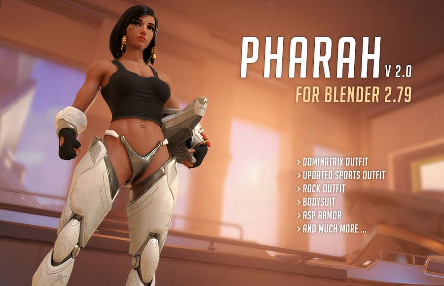 [Overwatch] Pharah v2.0 for Blender 2.79