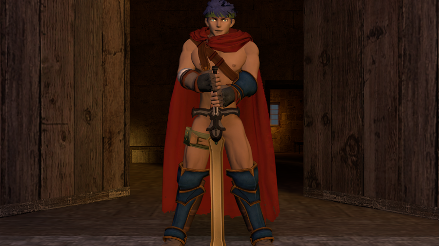Nude Ike (Fire emblem/Super smash bros. Brawl)
