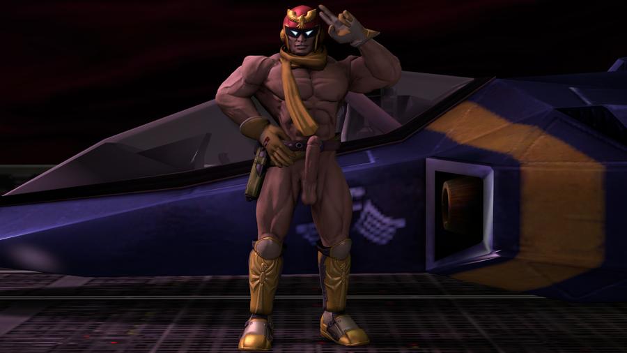 Nude Captain Falcon (Super smash bros. Brawl)