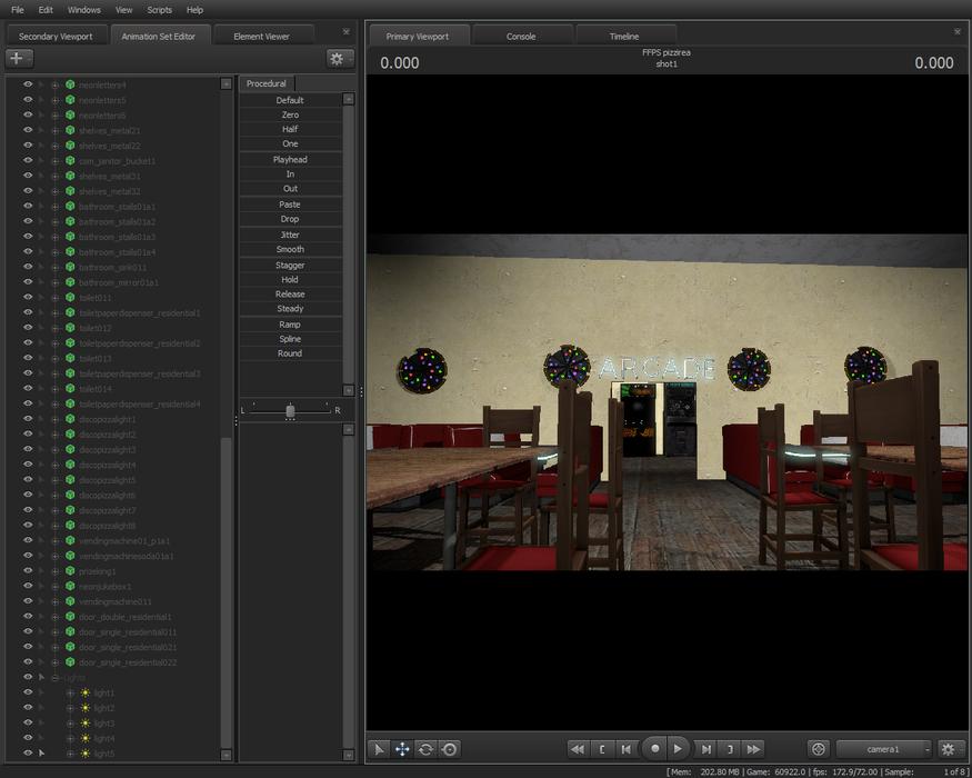 realistic Freddy fazbear's pizza simulator scenebuild