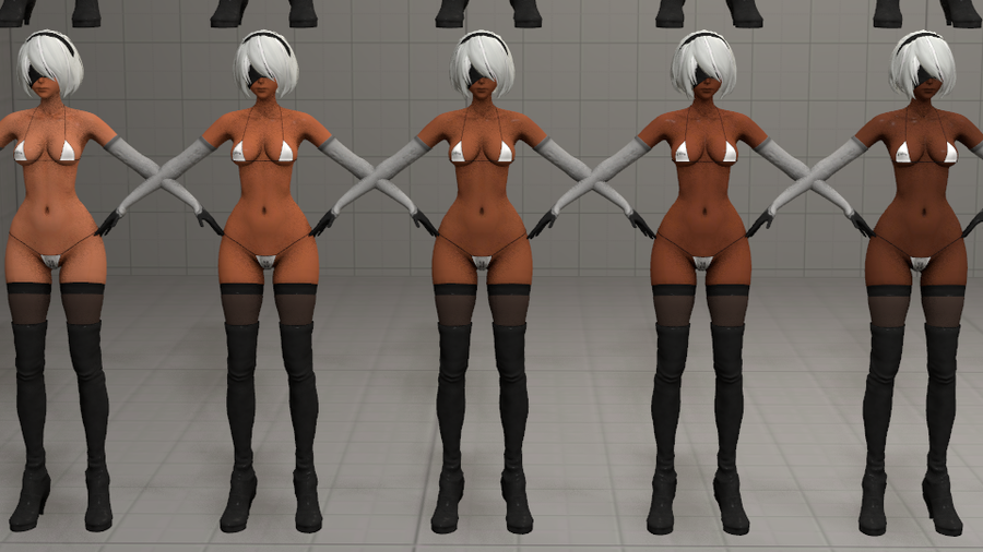 New Flavors of 2B [Textures for YoRHa 2B V2]