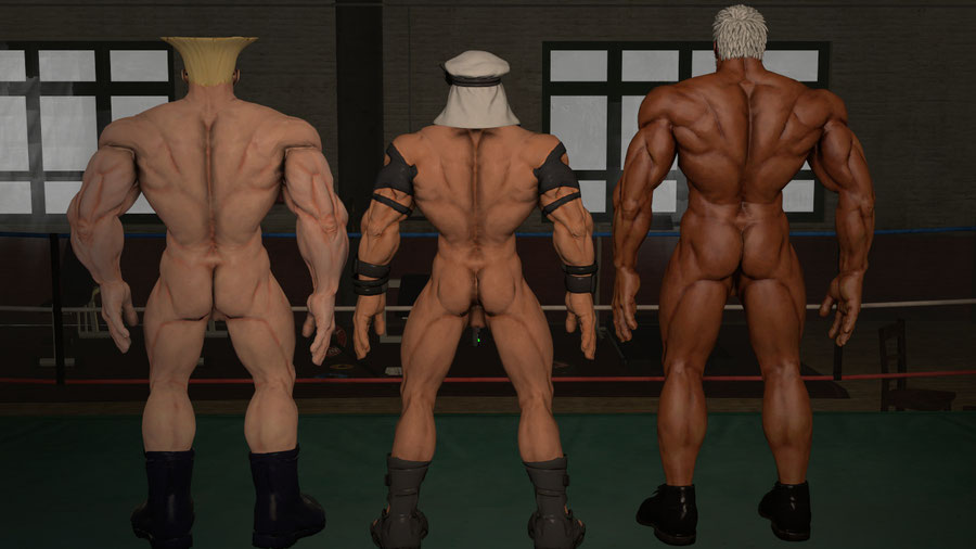 Nude Guile Rashid and Urien