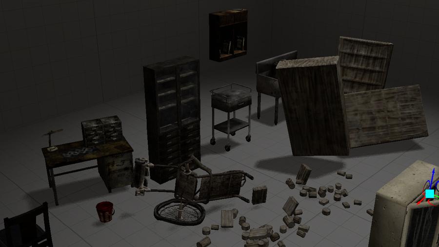 Silent Hill map props set