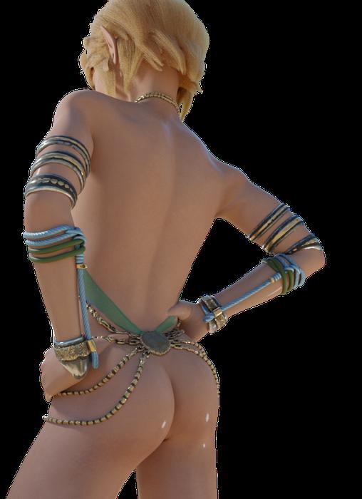 Gerudo Link (Femboy/Trap/Nude)