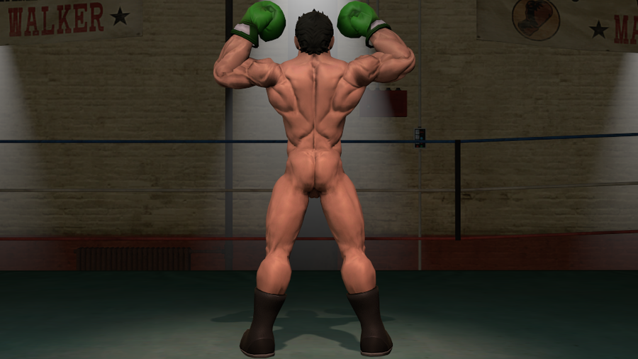 Nude Little Mac (Super smash bros. Brawl)