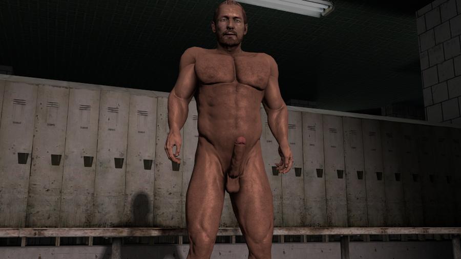 Nude Barry Burton (Resident evil)