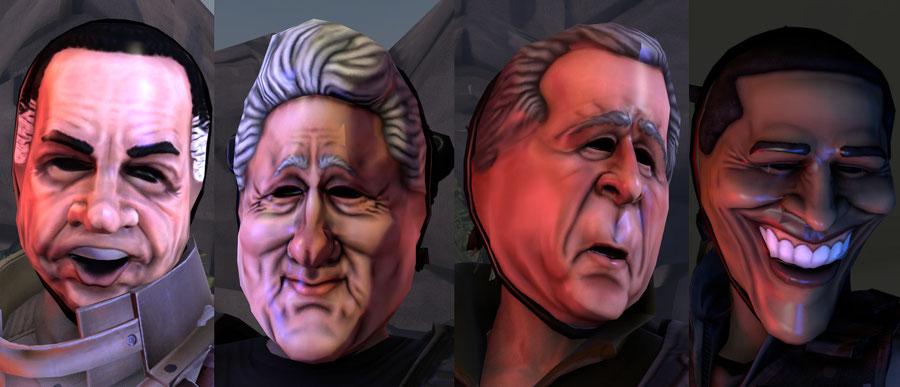 Payday 2 Masks - Presidents