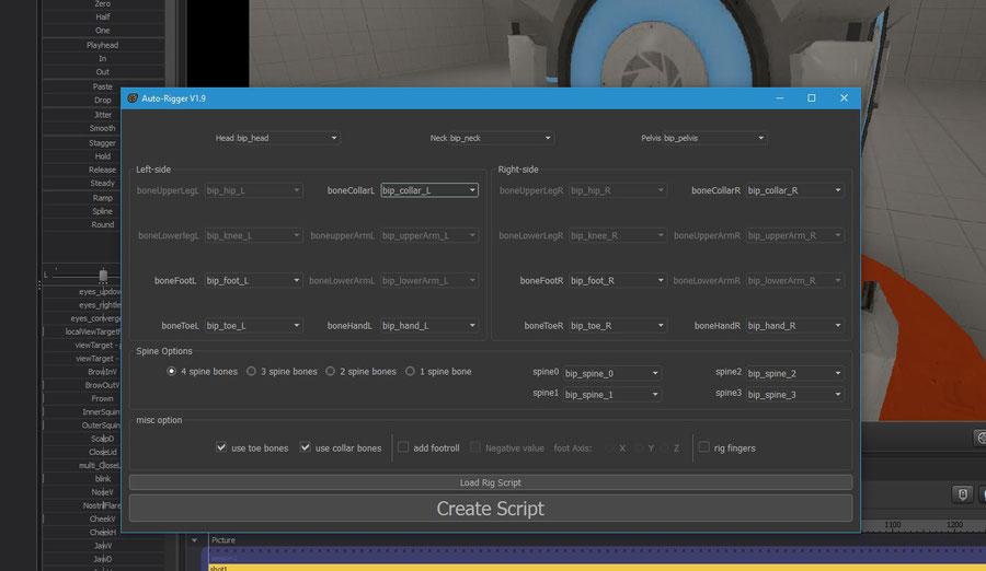 Auto-Rigger v1.9 for Biped Models