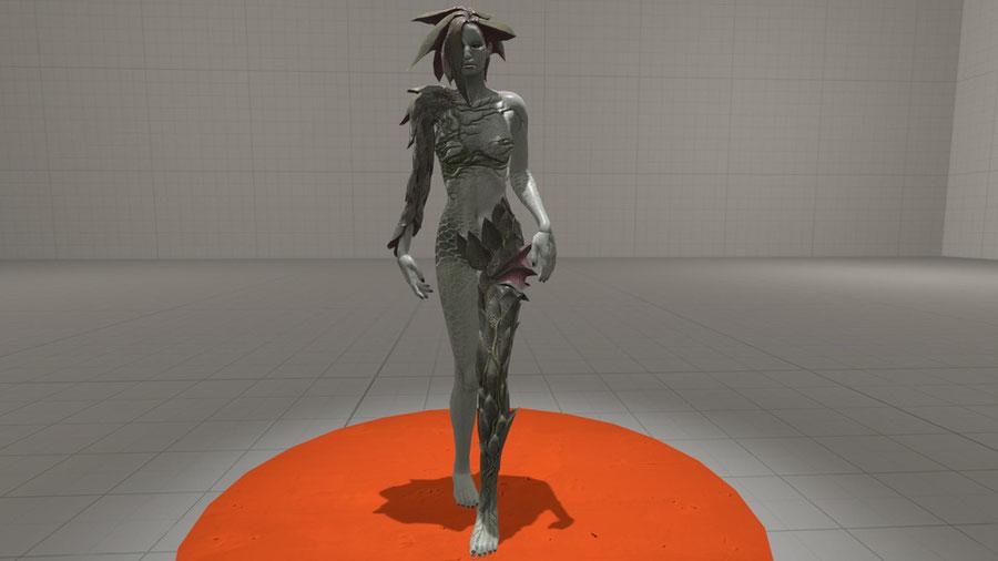 Resident Evil - Alexia Ashford mutated.