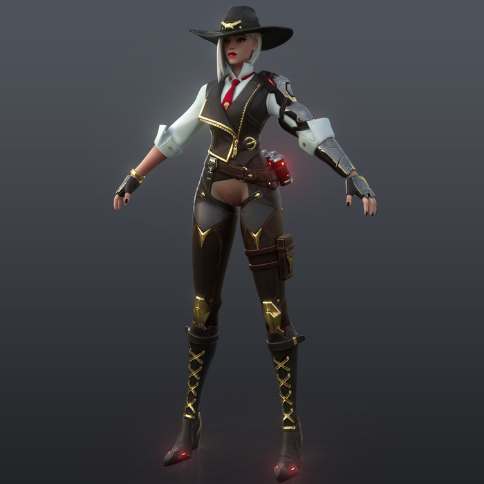 [Overwatch] Ashe Classic for Cinema 4D r20 [ Redshift 2.6.51 ]