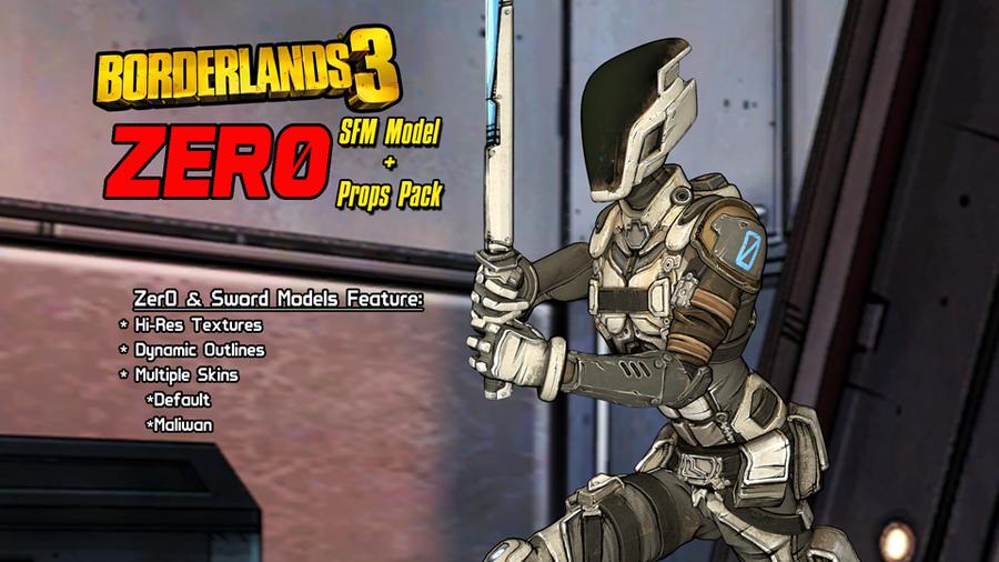 Borderlands 3: Zer0 (Model + Prop Pack)