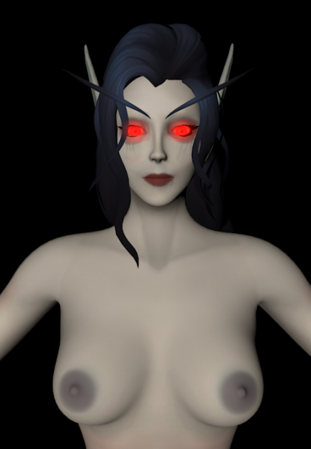 [C4D][Warcraft] Blood Elf Female