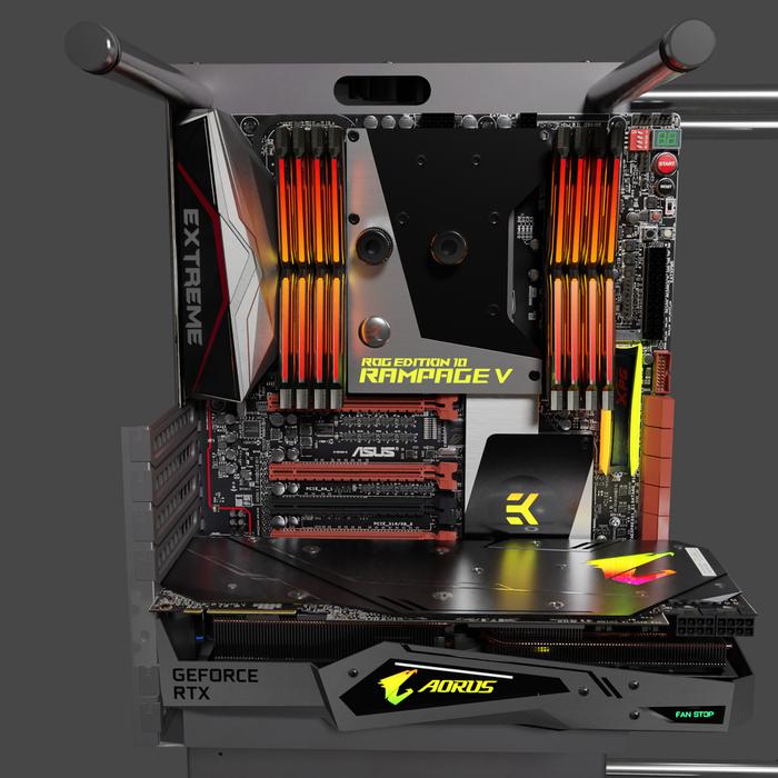 PC Thermaltake P90, ASUS Rampage V Extreme